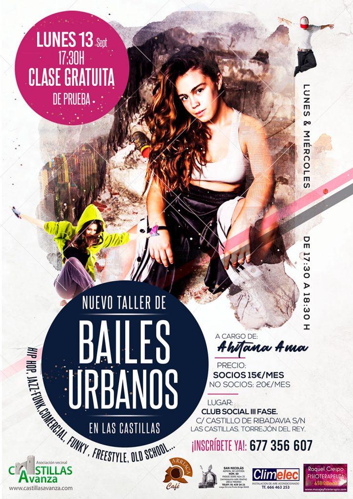 Taller de baile jóvenes hip-hop bailes urbanos