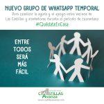 Nuevo grupo de whatsapp temporal para apoyo vecinal durante la cuarentena