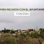 Resumen de la reunión mantenida con el Ayuntamiento de Torrejón del Rey (7/09/21)